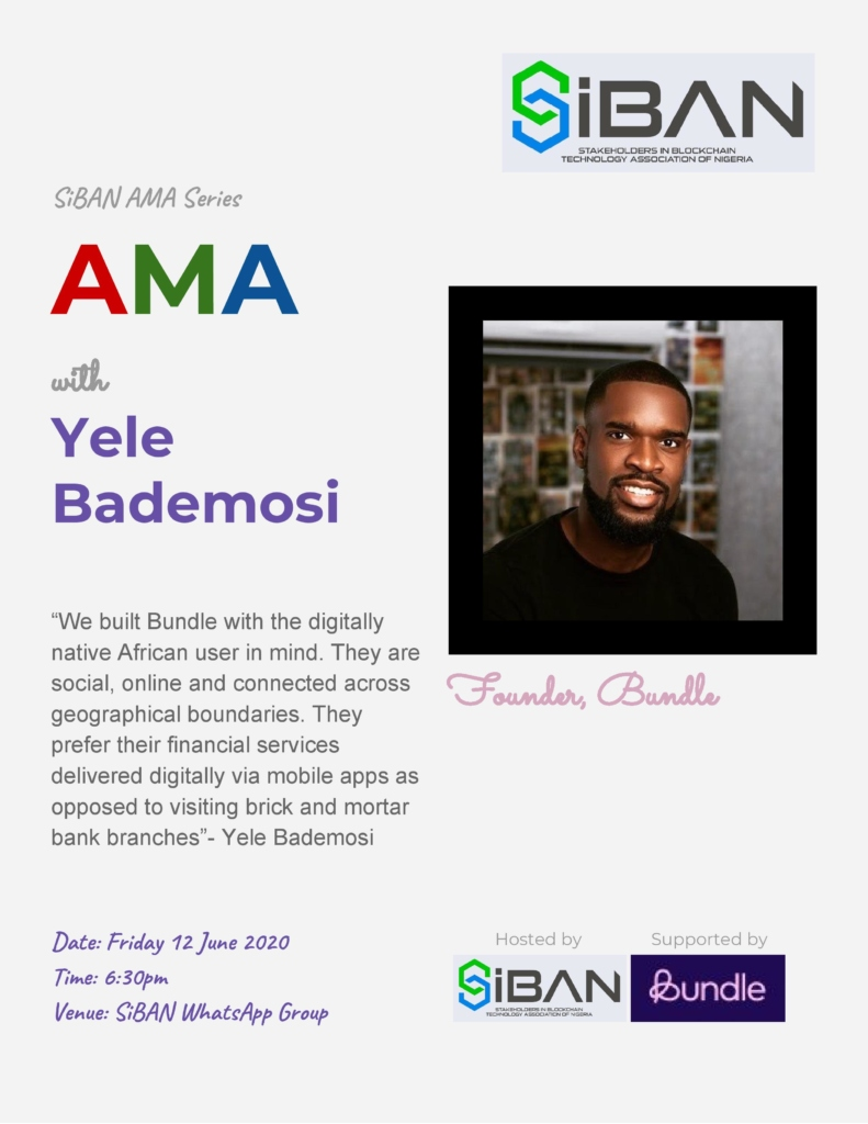 SiBAN AMA with Yele Bedamosi of Bundle